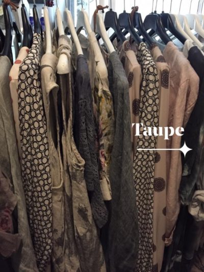 Taupe and Cream